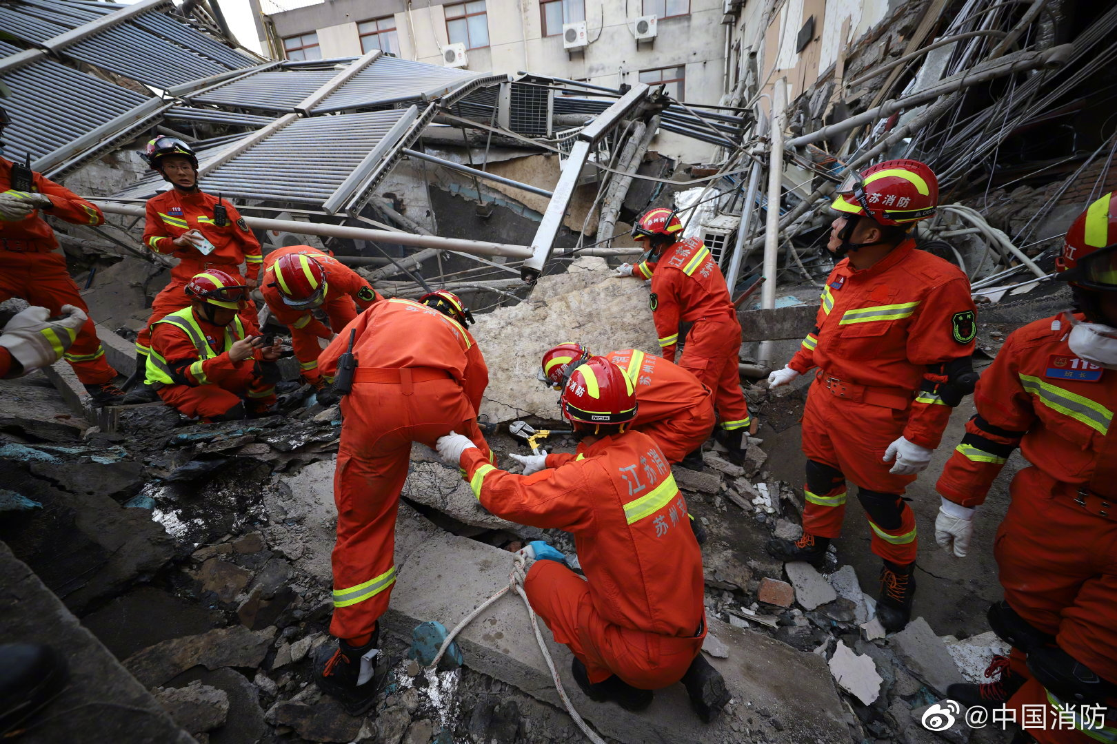 China, After Mocking Surfside Rescue, Hit by Hotel Collapse Disaster